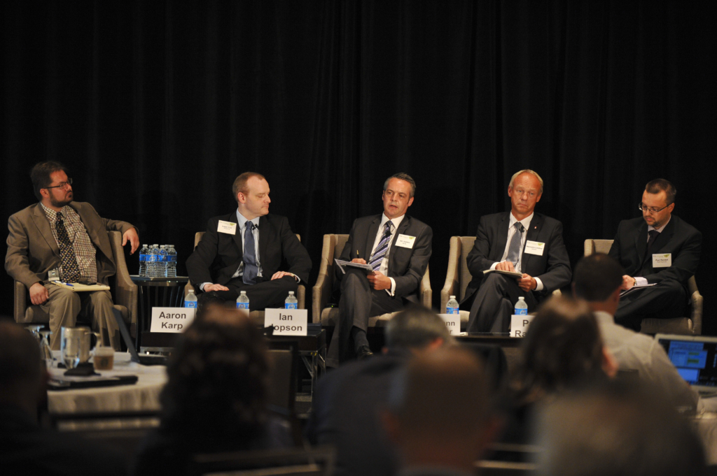 Ian at Air Transport World's Eco Aviation Conference