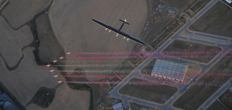 Seville, Spain, June 23th 2016: Solar Impulse successfully landed in Seville after 3 days over the Atlantic with Bertrand Piccard at the controls. Departed from Abu Dhabi on march 9th 2015, the Round-the-World Solar Flight will take 500 flight hours and cover 35'000 km. Swiss founders and pilots, Bertrand Piccard and André Borschberg hope to demonstrate how pioneering spirit, innovation and clean technologies can change the world. The duo will take turns flying Solar Impulse 2, changing at each stop and will fly over the Arabian Sea, to India, to Myanmar, to China, across the Pacific Ocean, to the United States, over the Atlantic Ocean to Southern Europe or Northern Africa before finishing the journey by returning to the initial departure point. Landings will be made every few days to switch pilots and organize public events for governments, schools and universities.
